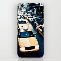 broadway iPhone & iPod Skins featuring 580 Broadway by Teemu Tuuloskorpi