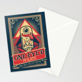 One-eyed Pirate Stationery Cards