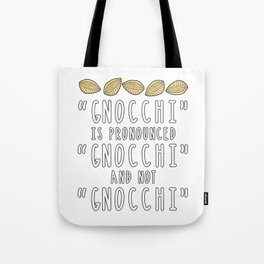 Funny Gnocchi Italian Pasta Foodie Gift For Chefs Tote Bag