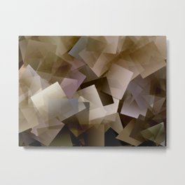 Cubist Abstract in brown and earth tones - 001 Metal Print