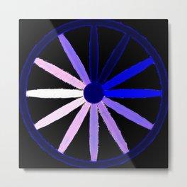blue spokes Metal Print