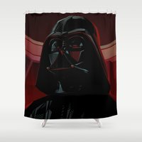 """sith Shower Curtains featuring """"DARTH VADER"""" Dark Lord of the Sith by ANDRESZEN"""