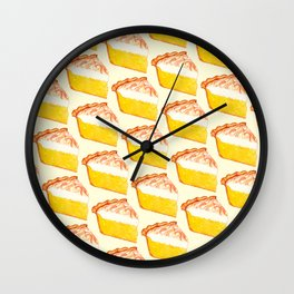 Lemon Meringue Pie Pattern Wall Clock