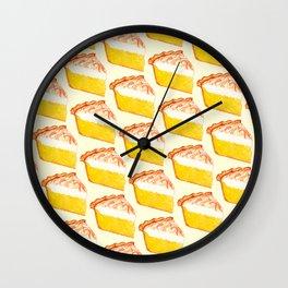 Lemon Meringue Pie Pattern Wall Clock