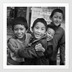 Lukla Children 1 Art Print