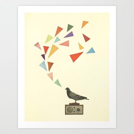 Pigeon Radio Art Print