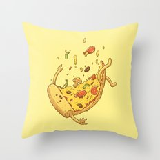 Pizza fall Throw Pillow