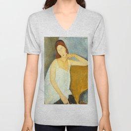 Amedeo Modigliani - Jeanne Hébuterne Unisex V-Neck