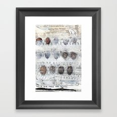 Bearing False Witness Framed Art Print
