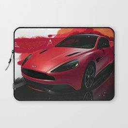 Aston Martin Vanquish S Digital Painting   Automotive   Car Laptop Sleeve