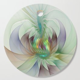 Colorful Shapes, Modern Fractals Art Cutting Board