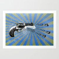 guns Art Prints featuring guns by mark ashkenazi