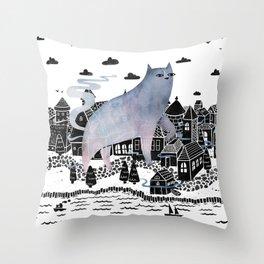 The Fog Throw Pillow