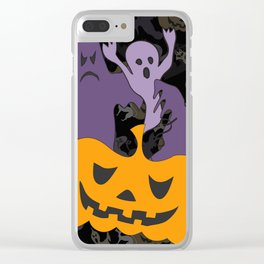 Halloween poster Clear iPhone Case