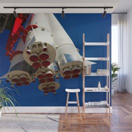 Vintage Spacecraft Engines Wall Mural
