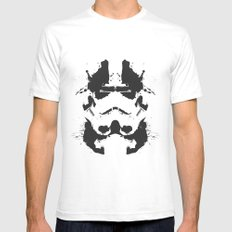 Stormtrooper Rorschach Mens Fitted Tee White SMALL