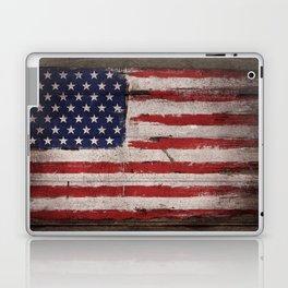 Wood American flag Laptop & iPad Skin