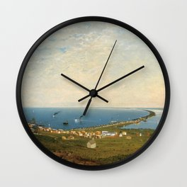 'Coastal Scene and Tidal Ponds' landscape by Gilbert Munger Wall Clock