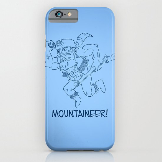 Mountaineer! (blue) iPhone & iPod Case