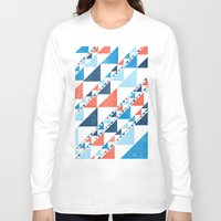triangles Long Sleeve T-shirts featuring TRIANGLES  by parallelish