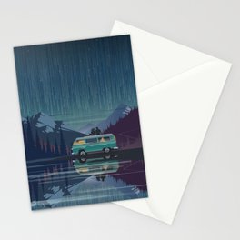 Retro Camping under the stars Stationery Cards