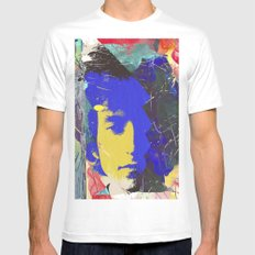 bob dylan MEDIUM White Mens Fitted Tee