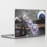 moon phase Laptop & iPad Skins featuring PHASE: 23 by Matthew Jorde
