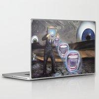 moon phase Laptop & iPad Skins featuring PHASE: 23 by Matthew Jorde