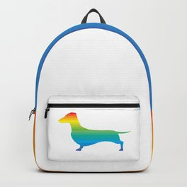 Rainbow Dachshund Backpack