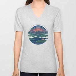 The Lake At Twilight Unisex V-Neck