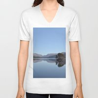 scotland V-neck T-shirts featuring Scotland Beauty by Eugene Lee