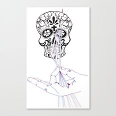 untitled skull Canvas Print