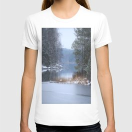 Blue Moment By The Lake T-shirt