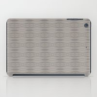 gray pattern iPad Cases featuring Gray Aztec Pattern by Corbin Henry