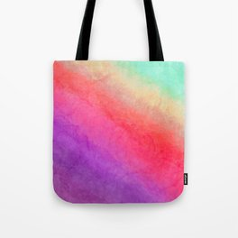 Abstract hand painted violet lilac pink yellow watercolor ombre Tote Bag