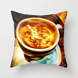 Coffee Espresso Throw Pillow