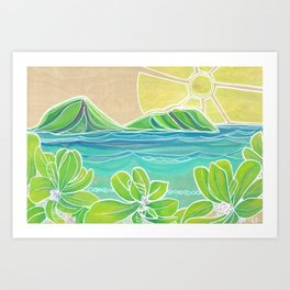 Naupakas in Paradise Surf Art by Lauren Tannehill Art Print