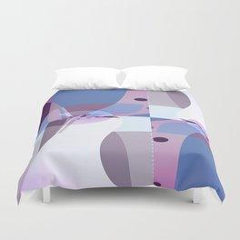 Sacred Geometry Art- Fractal Art- Quistera- Picasso Art- Cubism Art- Purple Art-Cubism Art Duvet Cover