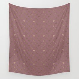 Gold Diamonds Pattern on Royal Purple Background Wall Tapestry
