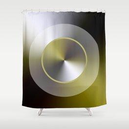 Serene Simple Hub Cap in Sepia Shower Curtain