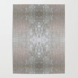 Silver Velvet Snake Pattern Poster