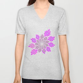 Delicate flowers in pink Unisex V-Neck