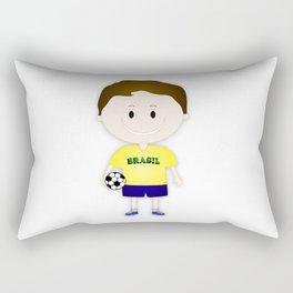 Football Copa Boy Brazil 2014 Rectangular Pillow