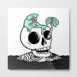 Surfer Thoughts Metal Print