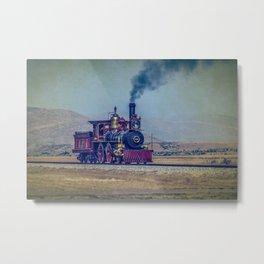 UP 119 Vintage Steam Locomotive Replica Golden Spike National Historic Site Utah Train Railway Railroad Photography Metal Print