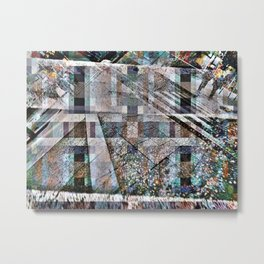 Zag emphasis brought rounded angling. Metal Print