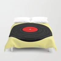 bruce springsteen Duvet Covers featuring Born to Run- Bruce Springsteen Vinyl by MisfitIsle