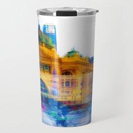 Flinders Street Photo Montage Travel Mug