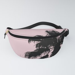 Palm Tree Silhouettes On Pink Fanny Pack