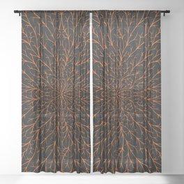 Spooky Webs Sheer Curtain